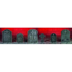 6 Piece Tombstone Set Halloween Decoration Props