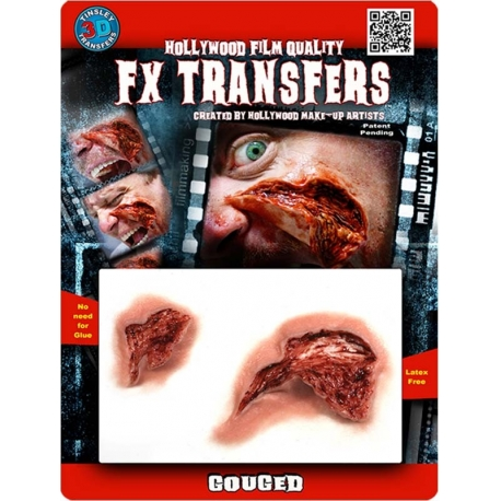 Gouged 3D FX Transfer Hollywood Quality Horror Makeup
