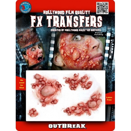 Outbreak 3D FX Transfer Hollywood Quality Horror Makeup