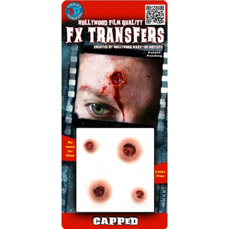 Capped 3D FX Transfer Hollywood Quality Horror Makeup