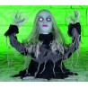 Head Turning Ice Lady With Sound Halloween Horror Prop