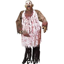 Lifesize Animated Chopping Brock Halloween Horror Prop