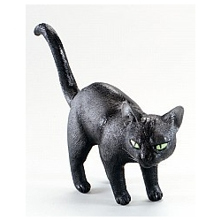 Rubber Black Cat Halloween Prop Decoration