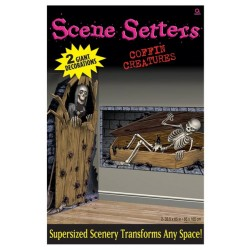 Coffin Creatures Scene Setter Halloween Decoration