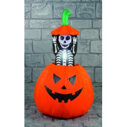Pumpkin With Pop Up Skeleton Halloween Inflatable