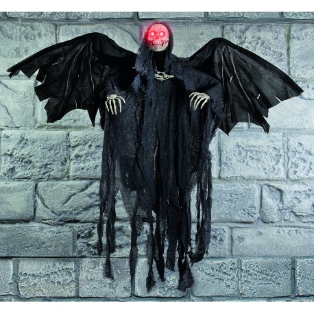Animated Winged Reaper Halloween Prop