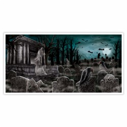 Cemetary Banner Halloween Decoration