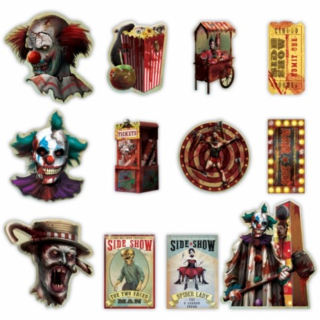 Creepy Carnival Cut Outs Pack Halloween Decoration