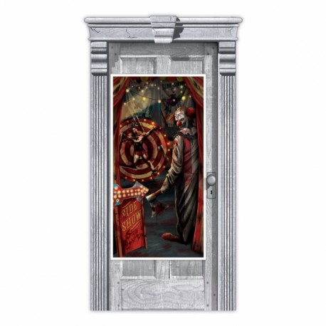 Creepy Carnival Halloween Door Decoration