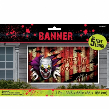 Creepy Carnival Banner Halloween Decoration