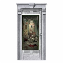 Asylum Corridoor Halloween Door Decoration
