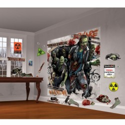 Zombies Scene Setter Halloween Decorating Kit