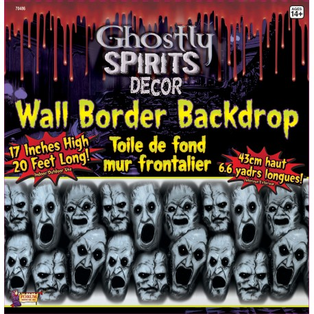 Ghostly Spirits Wall Decoration Halloween Scene Setter