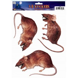 3 D Rat Stickers Halloween Scene Setter