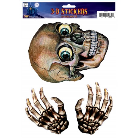 3 D Skeleton Stickers Halloween Scene Setter