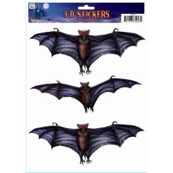 3 D Bat Stickers Halloween Decoration