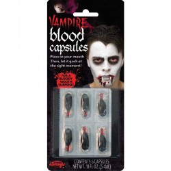 Blood Capsules Halloween Fancy Dress Horror Makeup