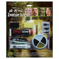 All In One Zombie Halloween Make-Up Kit