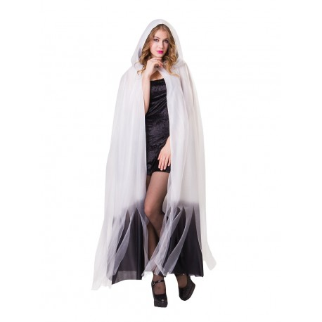 White Hooded Cape
