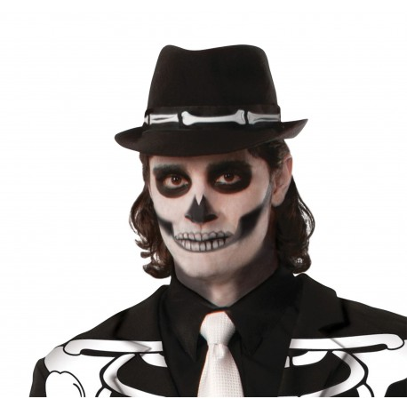 Halloween Skeleton Fedora Hat