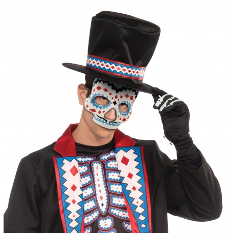 Day Of The Dead Moustache Mask