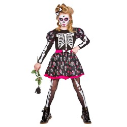 Skull Of The Dead Girls Halloween Fancy Dress