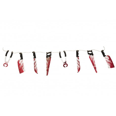 Bloody Weapon Halloween Garland