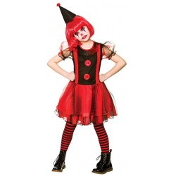Freaky Clown Girls Halloween Costume