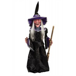 Witch 28inch Light Up + Sound Halloween Decoration