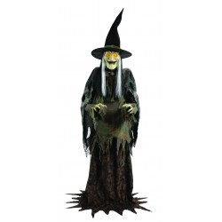 Lanky Witch Animated Halloween Horror Prop