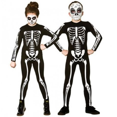 Childs Skeleton Jumpsuit Unisex Halloween Costume