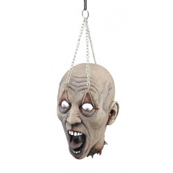 Dead Head Hanging From Eyelids Horror Prop Decoration