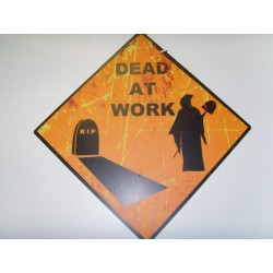 Metal Halloween Scary Road Signs