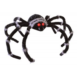 Monster Spider With Red Flashing Eyes Halloween Prop