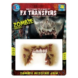 Zombie Missing Jaw 3D FX Transfer Hollywood Quality Horror Makeup