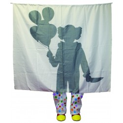 Clown Silhouette Halloween Decoration