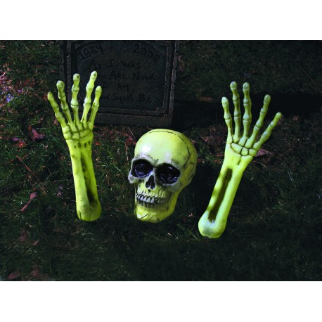 Glow-In-Dark Out Of the Grave Skeleton