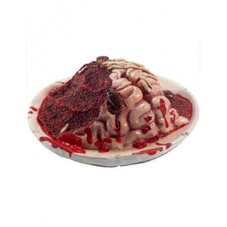 Gory Gourmet Rotting Brain Plate Prop