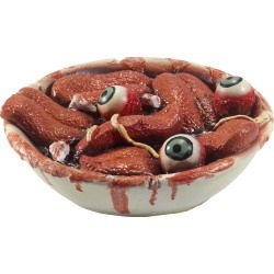 Gory Gourmet Tongue Bowl Halloween Prop