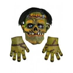 Frankenstein Halloween Mask And Gloves