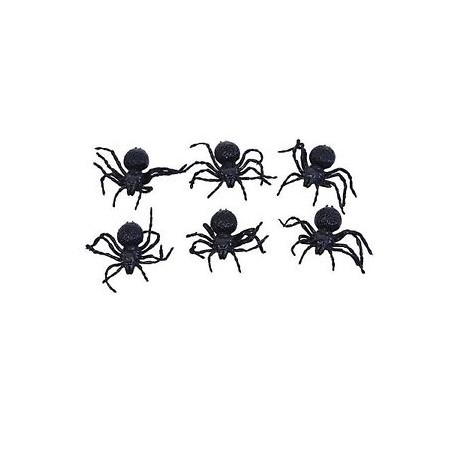 Pack Of 6 Small Spiders