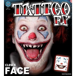 Clown Face Tattoo FX