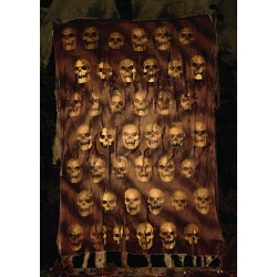 Catacomb Skull Wall Cloth Halloween Decortion