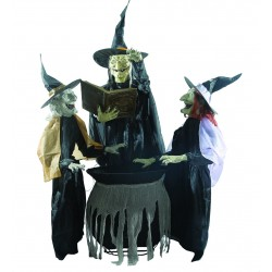 Enchanting Witch Trio Animated Figures