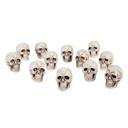 Set of 12 Halloween Skulls