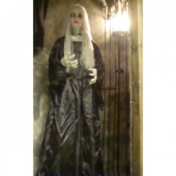 Animated Woman Halloween Horror Prop