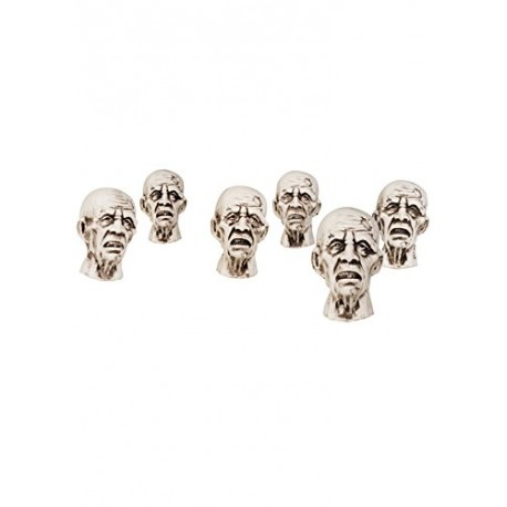 Set of 6 Shrunken Zombie Heads