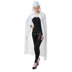 Long Hooded White Cape