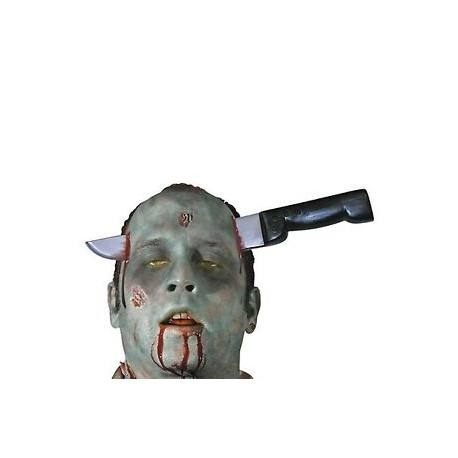 Knife Through Head Halloween Prop Weapon