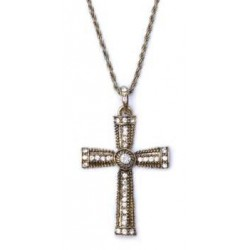 Jewelled Cross Halloween Costume Accessory